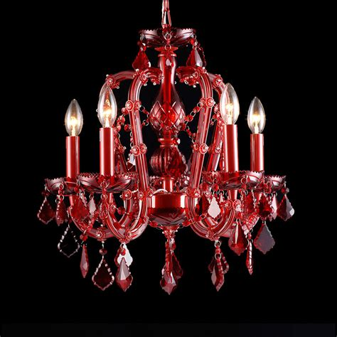 Red Mini Chandelier Avenue Lighting Hf1037 Red Crimson Blvd Crystal Red