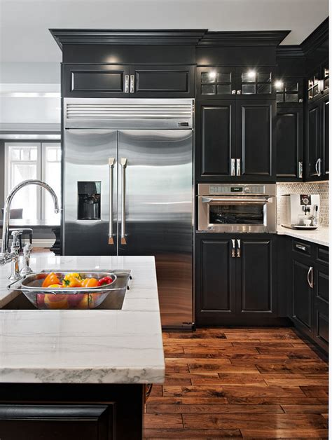 black cabinet kitchens pictures acacia hardwood flooring an excellent choice home