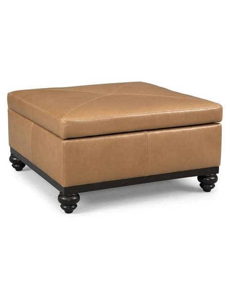 36 X 36 Storage Ottoman Martha Stewart Leather Square Storage Cocktail Ottoman