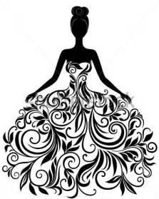Gt desconocido gt silueta vector de joven en elegante vestido de novia