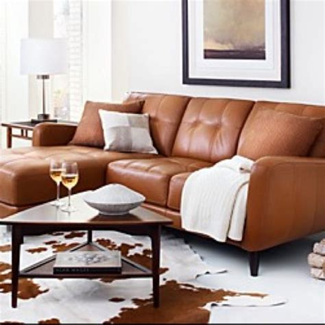 burnt orange leather sectional sofa burnt orange leather couch looks cozy home decor