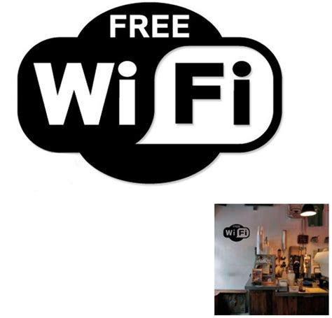 jual stiker tanda free wifi untuk cafe restaurant bar pub