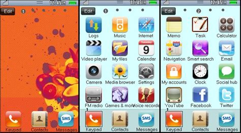 themes for samsung galaxy wave 525 my wave 525 iphone theme for samsung wave 525