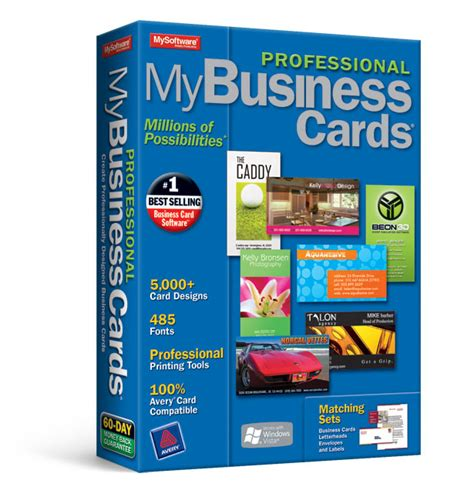 best program for business cards my professional business cards 7 avanquest