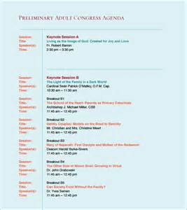 conference schedule template sle conference agenda 7 documents in pdf word