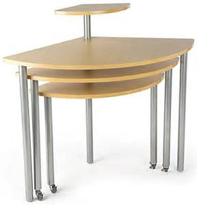 maple rotating retail display tables nesting counters