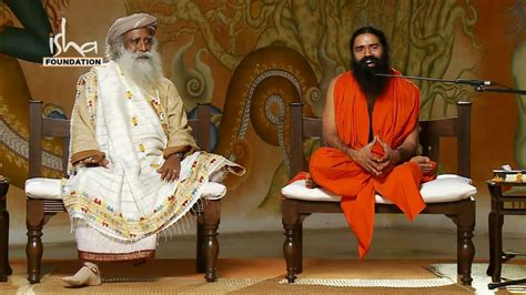 yoga tutorial by baba ramdev baba ramdev visits isha yoga center part 4 youtube