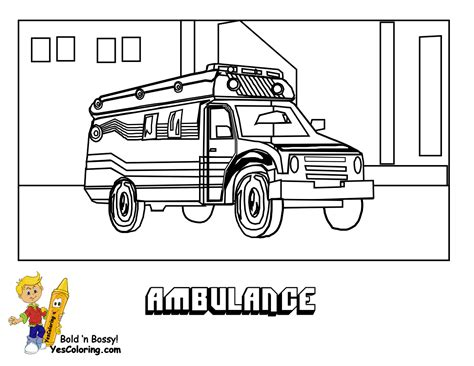 printable ambulance coloring pages coloring page