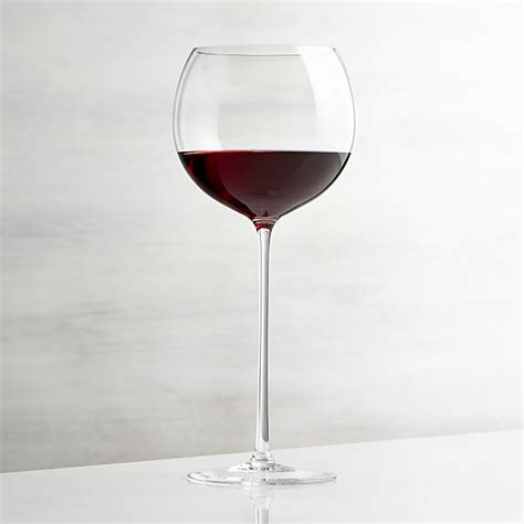 wine glasses camille 23 oz wine glass crate and barrel
