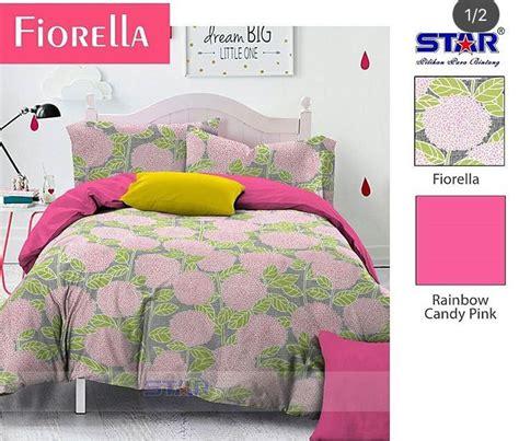 Sprei Fiore Detail Produk Sprei Dan Bedcover Fiorella Pink Toko
