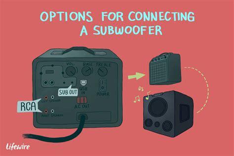 connect  subwoofer   receiver  amplifier