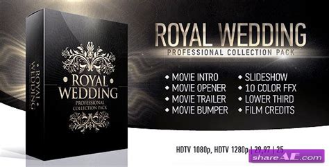 Royal Wedding Package After Effects Project Videohive 187 Free After Effects Templates After Wedding Intro After Effects Templates
