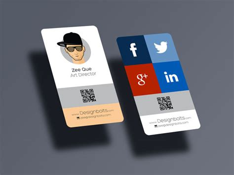 Business Card Template Rounded Corner Psd by Free Rounded Corner Vertical Business Card Mock Up Psd