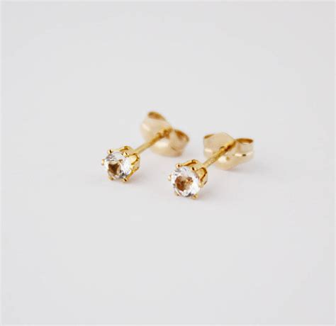 gold filled and gemstone stud earrings by beadin nora