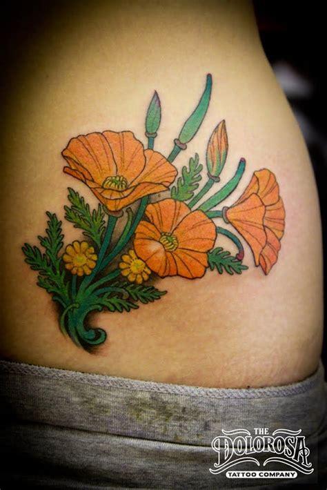 california poppy tattoo california golden poppy saturday