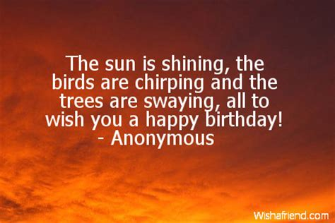the sun is shining the birds birthday quote for husband