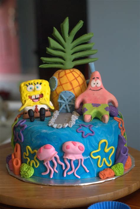 birthday cake spongebob cakes decoration ideas little birthday cakes