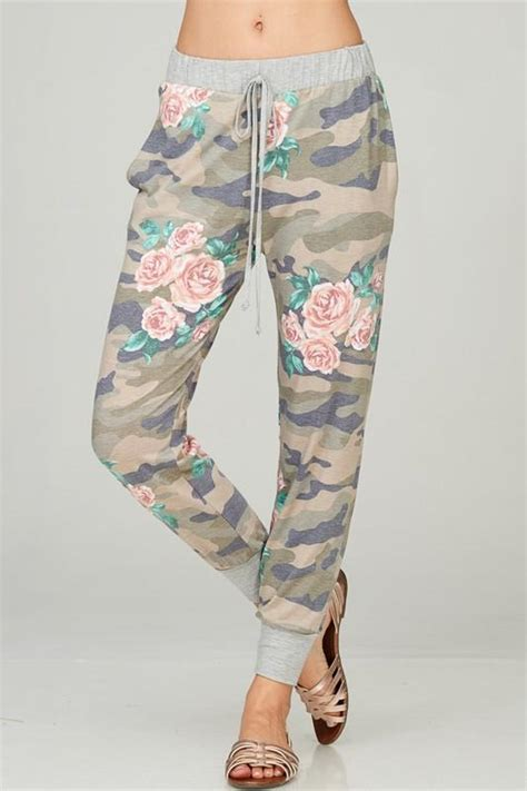 pattern joggers camo floral pattern jogger pant chapter24