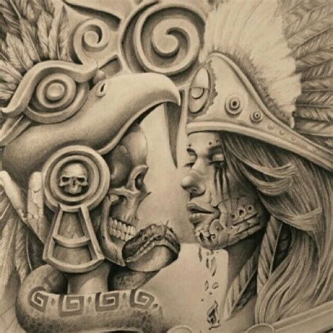 imagenes calaveras aztecas pin by martin3 on chicano art pinterest calaveras y azteca