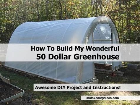 how to make a green house how to build my wonderful 50 dollar greenhouse