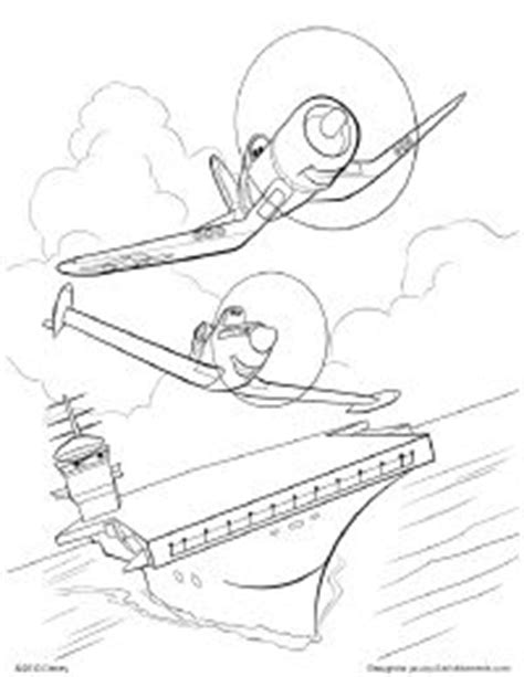 Ripslinger Surpass Dusty On The Race In Disney Planes Skipper Coloring Pages