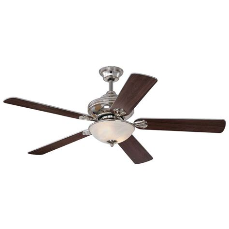 Westinghouse Light Ceiling Fan Icon Westinghouse 52 In Polished Nickel Indoor