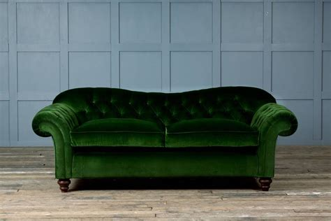 Velvet Chesterfield Sofas Bessie Velvet Chesterfield Sofa By Authentic Furniture Notonthehighstreet