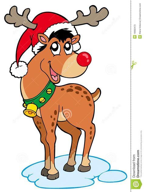 imagenes navidad renos reno en sombrero de la navidad ilustraci 243 n del vector