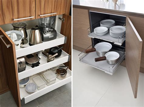 slide out drawers for kitchen cabinets kitchen design ideas pull out drawers in kitchen cabinets contemporist