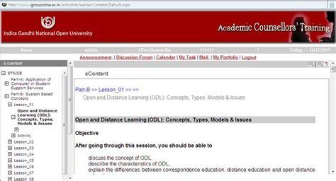 online tutorial open university online training of academic counselors of indira gandhi