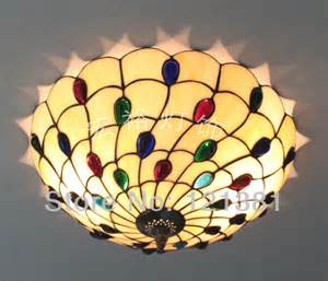 stained glass ceiling light fixtures style peacock ceiling l bedroom stained