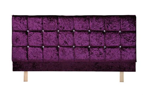 Purple Headboards by Headboard X Series In Velvet Brown Purple Or