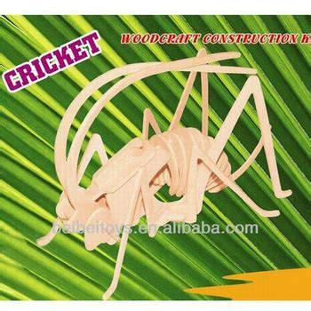 Cricket Wooden Craft 3d woodcraft construction kit diy 3d wooden cricket modle insert series buy woodcraft