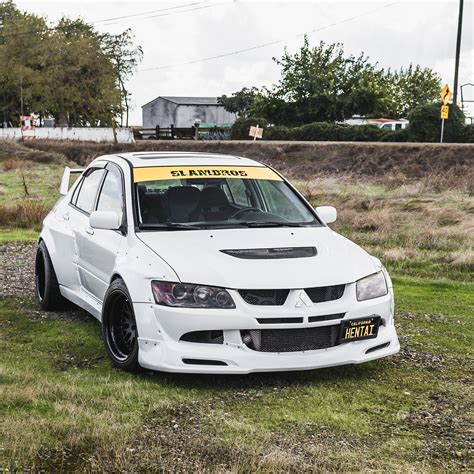 evolution mitsubishi 8 mitsubishi evolution widebody kit by clinched fits evo7