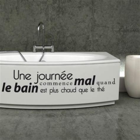 stickers baignoire citation stickers malin