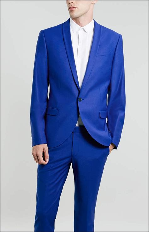 Jaket Biru Elektrik mens electric blue suit dress yy
