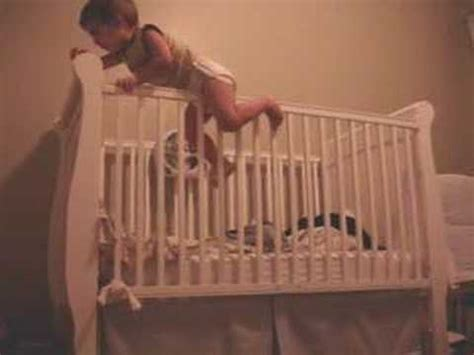Drew Baby Escape Crib Jump Youtube Baby Escapes From Crib