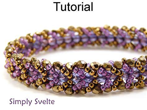 stitch beading beading tutorial pattern bracelet flat spiral stitch