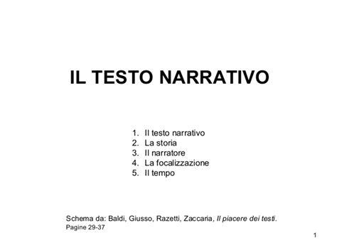 il testo narrativo schema il testo narrativo