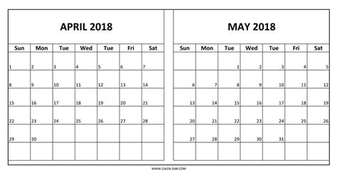 april may 2018 calendar printable journalingsage com