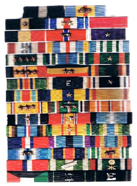 Build Rack Army Unit Awards by Large Navy Ribbon Grouping Medals Decorations U S