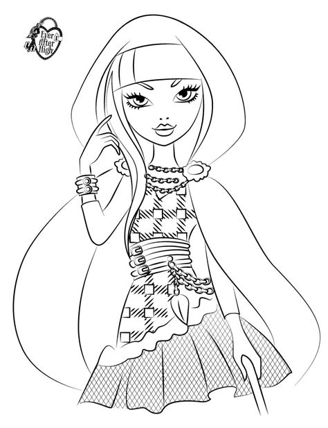 ever after high coloring pages cerise 12 dessins de coloriage ever after high cerise hood 224 imprimer