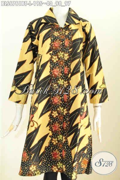 Baju Terusan Wanita Bahan Halus Untuk Kerja blus keren mewah kwalitas premium baju batik terusan