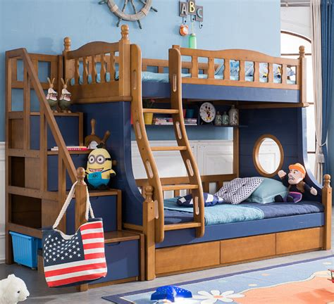 Bedroom Furniture Bunk Beds Webetop Nautical Style Composite Bed Bedroom Furniture Set Kid Bunk Bed Solid Wood