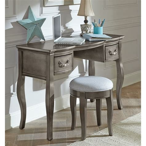 Kid Desk L Ne Kensington Writing Desk In Antique Silver 30540