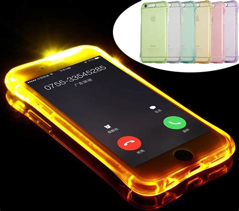 Blue Light Softcase For Iphone 7 Plus 8plus Hijau 2016 fashion new soft tpu led flash light up remind incoming call cover for iphone 7 7 plus