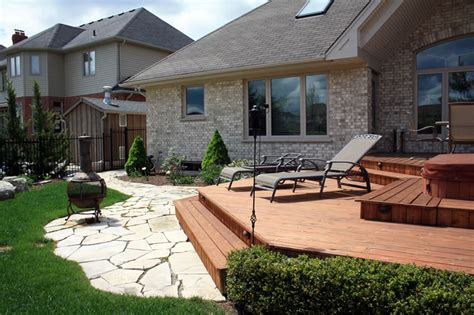 Landscape Deck Patio Designer Decks Patios Tydan Landscape Outdoor Living For Southwestern Ontario Landscape