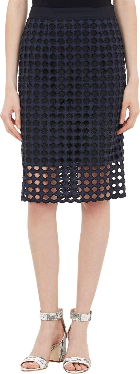 Buy Barneys Gift Card - sea circular eyelet pencil skirt at barneys com