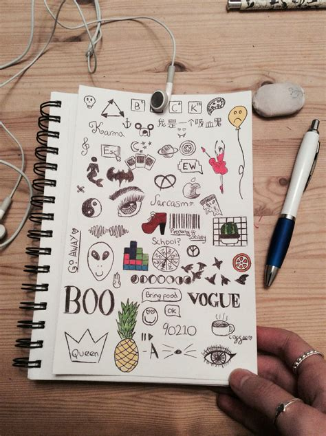 doodle notebook ideas doodles drawings doodles drawings and