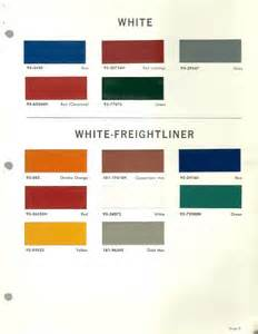 1966 white freightliner truck color chip paint sample